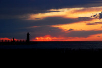 Sunset of Fire - Manistee Lighthouse