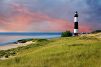 Sable Lighthouse Sunset - Ludington, Michigan