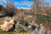 Truckee River and Virgina Mountains - Reno, Nevada