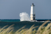 Wave Action at Frankfort Lighthouse