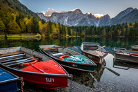 Boats of Mangart Lake - Italy/Slovenia