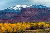 La Sal Mountains Fall Colors