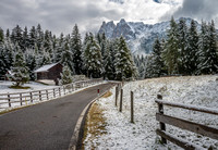Fresh Snow in The Dolomites - Italy
