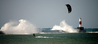 Kite Surfing on Smooth Waters - Frankfort, Michigan